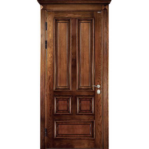 Двери с панелями из натурального дерева