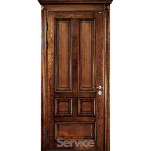 Двері з панелями з натурального дерева